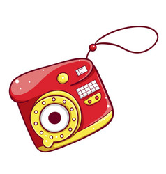 camera icon multimedia and studio compact device vector image