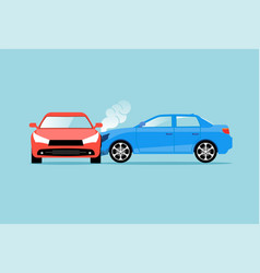 car accident speed crash top view cartoon vector image
