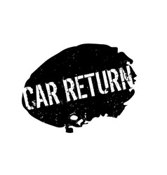Car return rubber stamp vector
