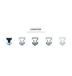 Carnation icon in different style two colored vector