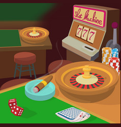 casino game items concept cartoon style vector image