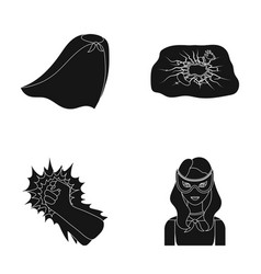 cloak red clothes and other web icon in black vector image