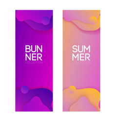 collection purple banners for any design vector image