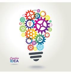 Creative conceptual background Idea vector