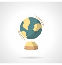Earth model flat color design icon vector