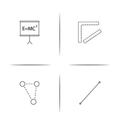 Education and science simple linear icon vector
