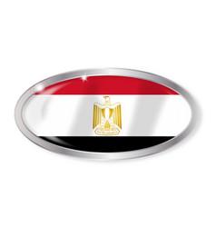 Egypt flag oval button vector