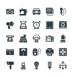 Electronic Cool Icons 5 vector