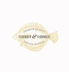 Flounder and flounder premium quality natural vector
