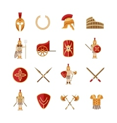 Gladiator Icons Set vector