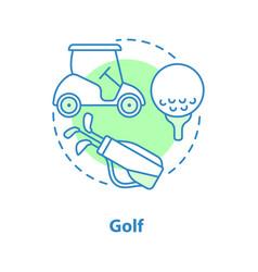 golf concept icon vector image