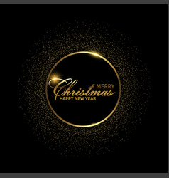 happy new year or christmas card with golden text vector image