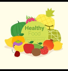 Healthy food background with fruits 3 vector