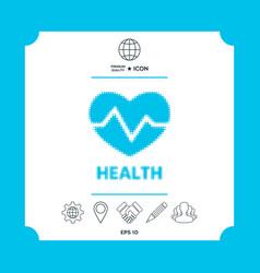 Heart symbol - halftone logo vector
