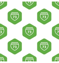 Interstate 73 pattern vector image