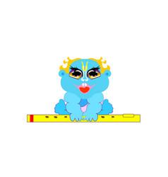 Krishna janmashtami child little vector