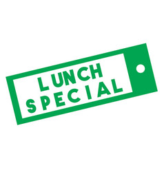 Lunch special stamp on white background vector