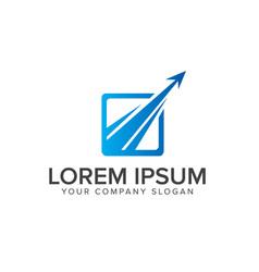 luxury modern arrow logo design concept template vector image