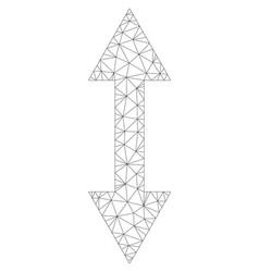 Mesh vertical flip icon vector