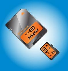 MICRO SD vector image