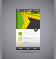 mobile template desig vector image