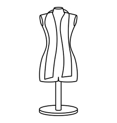Monochrome contour manikin tailor shop design vector
