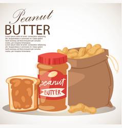 Peanut butter banner piece of vector