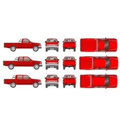 Pickup truck car cabine types vector