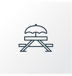 picnic table icon line symbol premium quality vector image