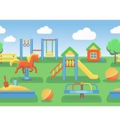Playground horizontal seamless vector