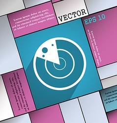 radar icon symbol Flat modern web design with long vector image