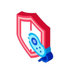 Safeguard healthcare bacteria isometric icon vector