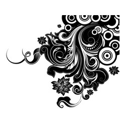 scroll floral design vector image