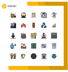Set 25 modern ui icons symbols signs for spa vector