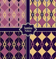 set of seamless colorful patterns vector image
