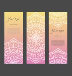 set of vertical ethnic narrow banners vector image