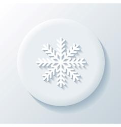 Snowflake 3D Paper Icon vector