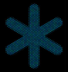 snowflake mosaic icon of halftone bubbles vector image