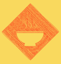 Soup sign red scribble icon obtained as a vector