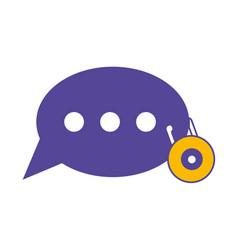 speech bubbles design concept vector image
