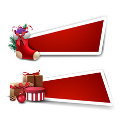 template for christmas discount red templates vector image