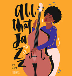 template for jazz club invitation music band vector image