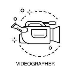 Videographer symbol video camera isolated outline vector