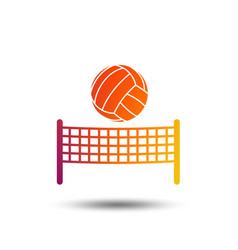 Volleyball net ball icon beach sport symbol vector