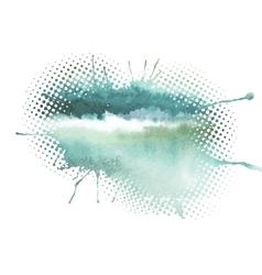 watercolor splash a nice spot on wet vector image