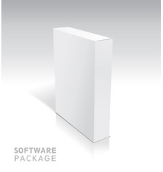 white package cardboard box vector image