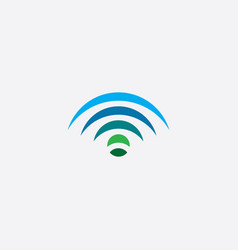 wifi logo design element icon vector image