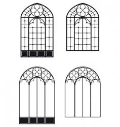 Windows and door vector