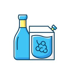 Wine to go rgb color icon vector