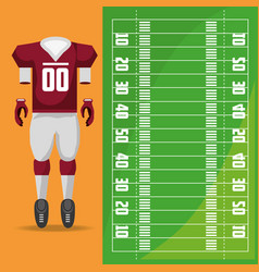 american football sport game to competition vector image vector image